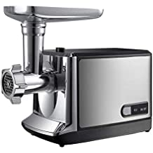 Iash Mixer Picadora de Carne eléctrica Máquina de Alimentos de Acero Inoxidable 350 W Máquina Multifuncional