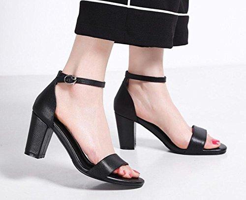Fischkopf rau mit den Wort cingulären Mode koreanischen Komfort Sandalen Frauen Black