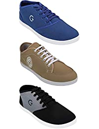 Globalite Shoe For Men Stylish Casual Combo Shoes For Boys (Combo Of 3 Shoes)