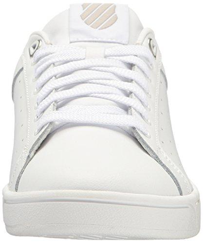 K-Swiss Clean Court Cmf, Sneakers Basses Femme Blanc (White/Gull Gray 131)