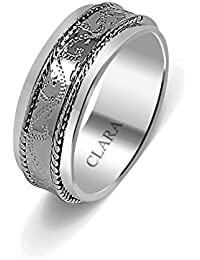 Clara The Enrique Sterling Silver Ring for Men