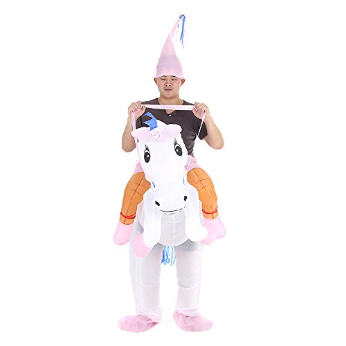 Anself Aufblasbares Kostüm Einhorn Cosplay für Fasching (Kostüme Einhörner)