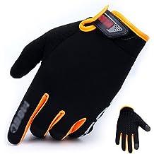 Gloves Ropa al aire libre de pantalla táctil de sección delgada guantes antideslizantes transpirables que montan la comodidad del montañismo (Color : A, Tamaño : Metro)