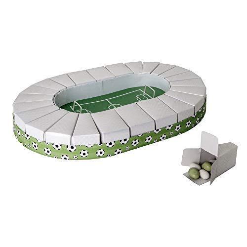 Publilancio srl torta stadio campo da calcio 32x45 cm con 24 scatoline portaconfetti