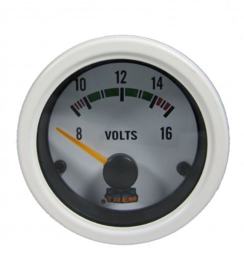 Voltmeter Farbe weiss