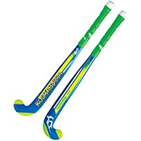 Palo de hockey de Kookaburra de colores neón, color Blue/Yellow/Green, tamaño 24 Litre