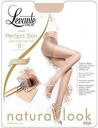 bc8ad8962925 Levante Collant Donna Perfect Skin 5 DEN Light Control Top Calze effetto  nudo
