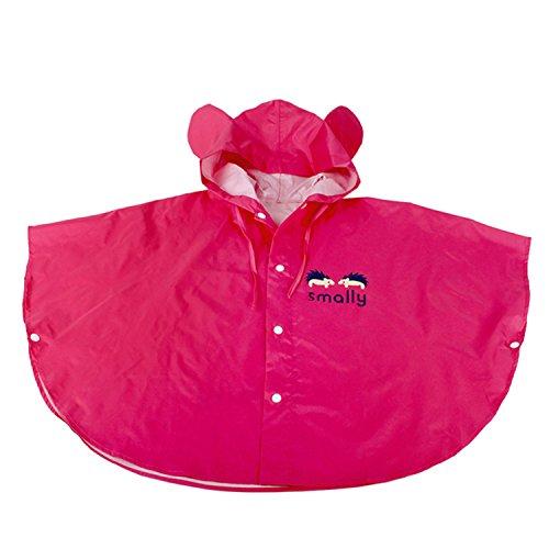 Chic-Chic Poncho Pluie à Capuche Bébé Fille Garçon Dessin Animal Mignon Veste imperméable Manteau de Pluie Rose 3-5ans/Tag M