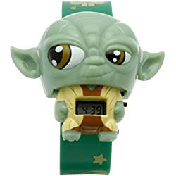 BulbBotz Star Wars Yoda Children's Digital Watch with LCD Dial Digital Display and Green PU Bracelet 2021104