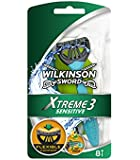 Wilkinson Sword Xtreme 3 Sensitive Men's Disposable Razors - Pack of 8 Razors