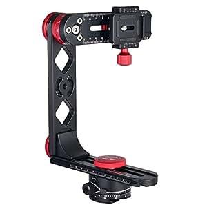 Granvoo PH-720B Schwarz 720°Panorama-Strömungskopf Aluminium Legierung Für DSLR Kameras Kompatibel mit Arca-Swiss Standard