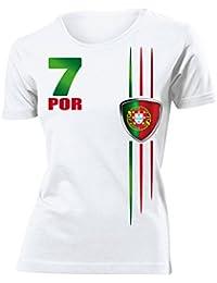 FOOTBALL WORLD CUP - EUROPEAN CHAMPIONSHIP PORTUGAL FAN T-Shirt Femme Small - XX-Large
