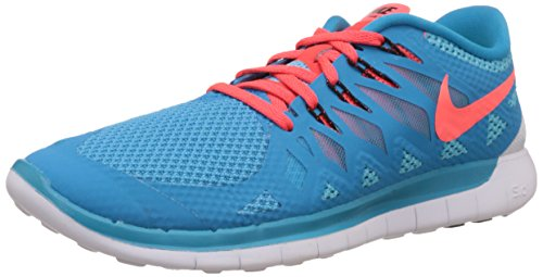 Nike Männer 15 Laufschuhe (Nike Free 5.0, Herren Laufschuhe, Blau (Blue Lagoon/Brght Crmsn-Clearwater 406), 43 EU)