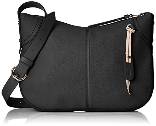 Esprit Accessoires Damen 128ea1o025 Umhängetasche, Schwarz (Black), 6x23x31 cm