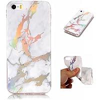 Ostop Glitzer Marmor Muster iPhone 5S/iPhone 5/iPhone SE Hülle,Bunt Glänzend Handyhülle Weich TPU Gummi Dauerhafte... preisvergleich bei billige-tabletten.eu