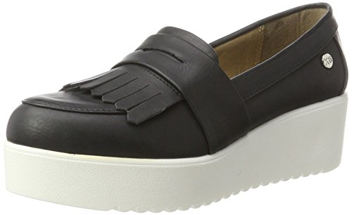 XTI - Black Mirror Pu Ladies Shoes ., Mocassini Donna nero (nero)