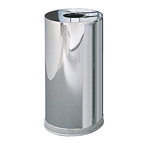 Rubbermaid Commercial Products FGCC16MCGL Metallic Series Refuse Container with Open