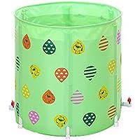 PVC Grueso Stent 70 * 70 cm Baño Plegable Bañera para Adultos Bañera -by BOBE Shop (Color : Green)