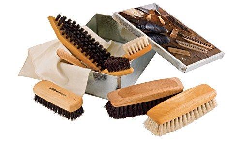 Redecker Luxury Shoe Shine Care Set In Metal Box - 19-tool-box
