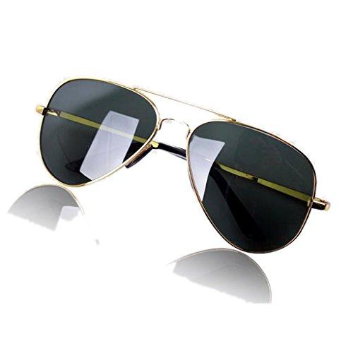 SUNGLASSES GJY Neue Herrenmode-Sonnenbrille, Tägliches polarisiertes Vollbild, Sonnenbrille der Aviator-Serie (Color : Black Frame Dark Green)