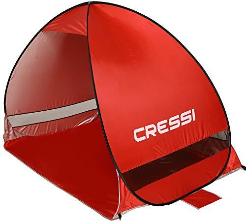 Cressi Beach Tent Strandmuschel, Rot, 200x120x130 cm