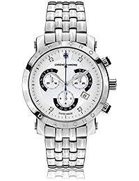 Chrono Diamond 82125_silber-41 mm - Reloj para hombres, correa de metal color plateado