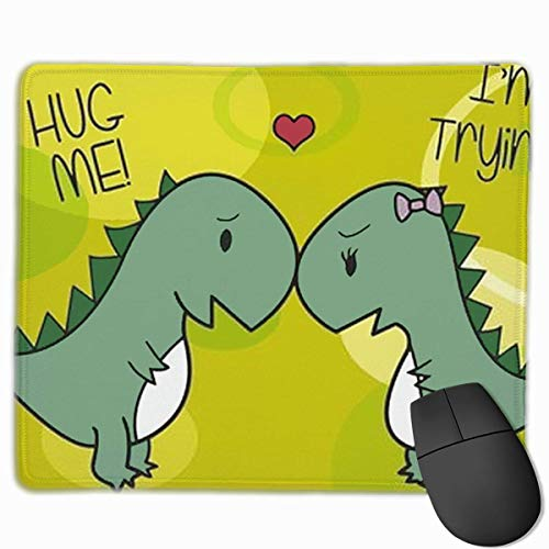 Hug Me I\'m Trying Customized Rectangle Non-Slip Rubber Mousepad Gaming Laptop Mouse Pad Mousepad Anti-Slip Mouse Pad Mat Mice Mousepad Desktop Mouse Pad 9.8 Inch X11.8Inch