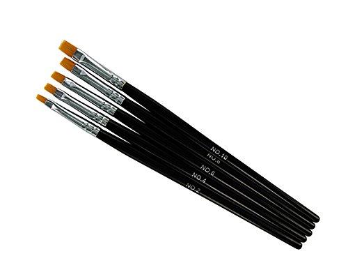 Cesars Pinsel Set UV-Gel, 5-tlg, Größe 2,4,6,8,10