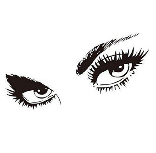 Jooks Neue Abnehmbare Hepburn Sexy schöne Augen Wand Aufkleber Decal Kunst Hauptdekor DIY Removable Wandtattoo-Hauptraum -Vinyl-Kunst-Dekor -