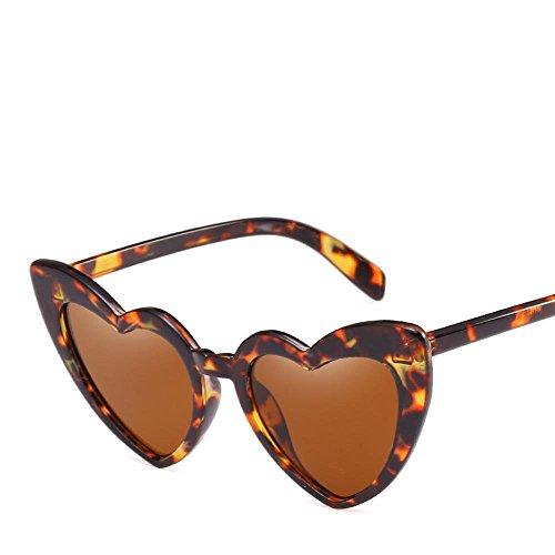 Aoligei NET-rot und denselben Abschnitt des Liebe-förmige Sonnenbrille Pfirsich Herz weiblichen Persönlichkeit Sonnenbrille original herzförmigen Sonne Brille