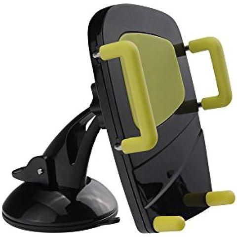 3in 1per Auto–Porta Universale Auto Parabrezza, Cruscotto e Air Vent Custodia per GPS per iPhone, Samsung Galaxy e altri smartphone (girevole a 360°)