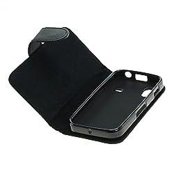 Mobilfunk Krause - Book Case Etui Handytasche Tasche Hülle für Samsung GT-S5830i / S5830i (Schwarz)