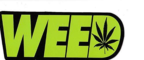 greestick Aufkleber Weed Canabis Hanf einzeln grün Dope Marihuana Gras Ganja Reggae