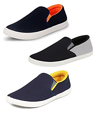 Chevit Men's Trio Pack of 3 Casual Shoes in Various Colour (Loafers and Mocassins) TR-101+104+166-10