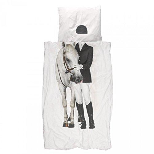 Snurk Dreaming Amazon Bettbezug-Set für Einzelbetten, Perkal, Fotodruck, weiß -