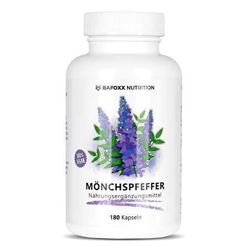 Mönchspfeffer 180 Kapseln im 6 Monatsvorrat - Hochdosiertes Naturprodukt mit 10 mg Mönchspfeffer Extrakt 4:1 - Agnus Castus - vegan - hergestellt in Deutschland.