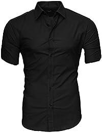 Suchergebnis auf Amazon.de für  hemd schwarz kurzarm  Bekleidung c44bf8ca64