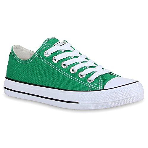 Damen Sneakers Sportschuhe Schnürer Schuhe 53095 Moosgrün Ambler 40 Flandell