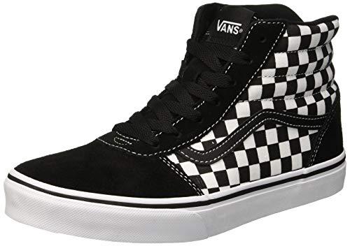 Vans Unisex-Kinder Ward HI Classic Suede/Canvas Hohe Sneaker, Schwarz ((Checker) Black/White Ugd), 38 EU