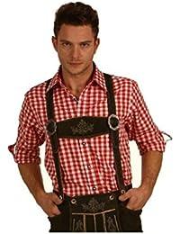 Fuchs Trachtenhemd kariert mit Krempelärmeln für Herren