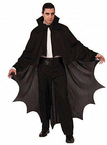 (shoperama Fledermaus Vampir Umhang für Damen und Herren Schwarz Halloween Cape Kostüm-Zubehör)