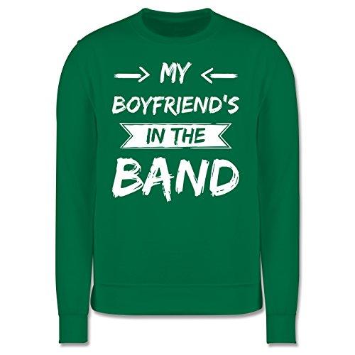 Statement Shirts - My boyfriend's in the band - Herren Premium Pullover Grün