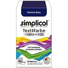 Simplicol Textilfarbe expert -Für kreatives, einfaches Färben (1er Pack, Marine-Blau 1708)