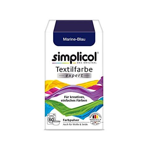 simplicol Textilfarbe expert für kreatives, einfaches Färben, 18 Farbe, Farbe für Waschmaschine oder manuelles Färben (1er Pack, Marine-Blau | 1708) (Marine-blau-kleidung)