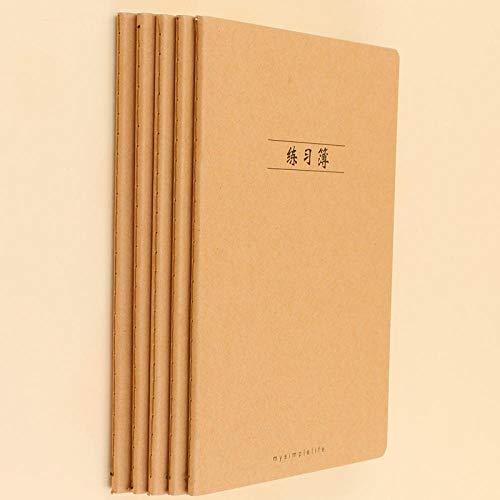 Notizblock A5 horizontale Linie Notebook Papier Kraft Cover Buch für Männer und Frauen Zielsetzung Businessplan