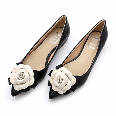 SHOESHAOGE Chaussures Pour Femmes Printemps Automne Porc Appartements Confort Talon Plat Chaussures Occasionnels De+Rose Bleu Noir Rose Black