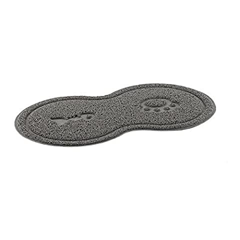 Ancol Paw and Fishbone Printing Cat Place Mat, Grey