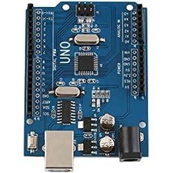 UNO R3 ATmega328P Placa de desarrollo con cargador de arranque para Arduino UNO UNO R3 ATmega328P Junta de desarrollo 5V Regard