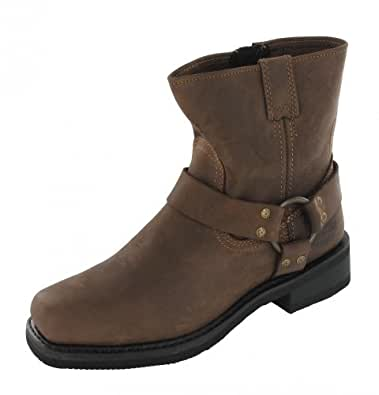 Harley Davidson Biker Boots Boots El Paso D94423 Brown Brown Harness breve, Harley Schuhe Herren Größen:42