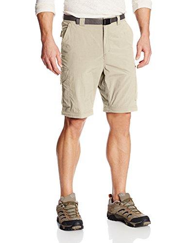 Columbia Ridge - Pantaloni convertibili da uomo, 91,44 cm, colore: Argento Fossil